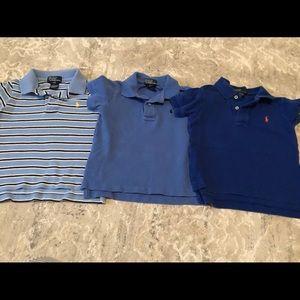 Three 2T polo shirts